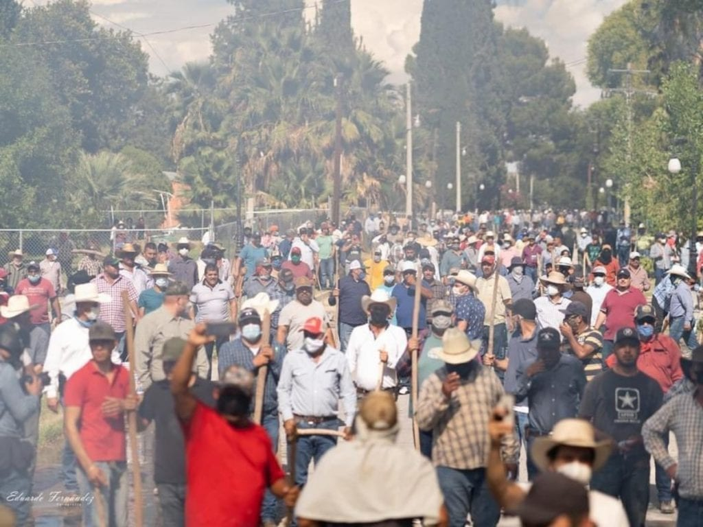 Expulsan campesinos a la Guardia Nacional de La Boquilla