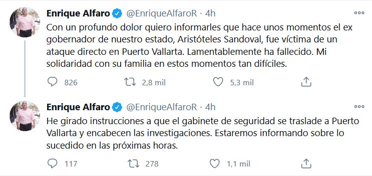 Muere Aristóteles Sandoval, exgobernador de Jalisco, víctima de un atentado en Puerto Vallarta (video) 1