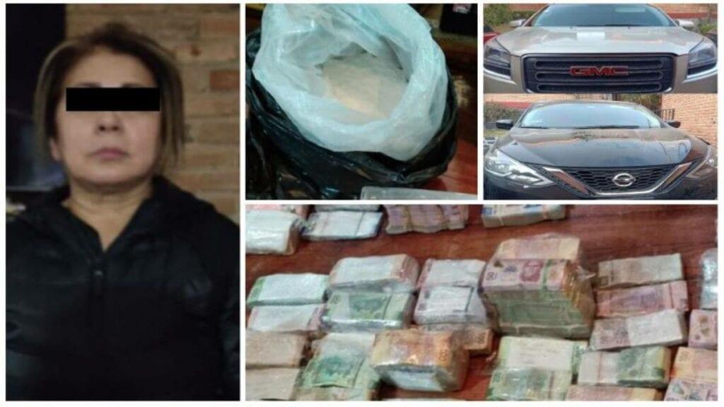Mamá de 'El Lunares' es arrestada con 23 tabiques de coca y miles de pesos