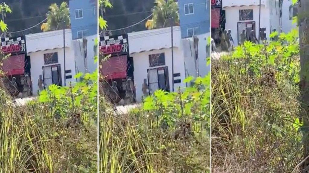 A través de videos difundidos en redes sociales, se reportó un enfrentamiento en Rincón de Guayabitos, Nayarit, en el que participan miembros de la Guardia Nacional.