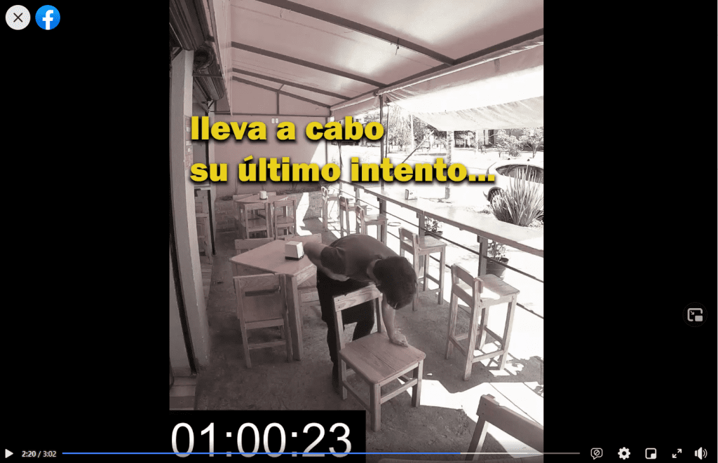 Video viral: joven salva su vida gracias a una silla_01