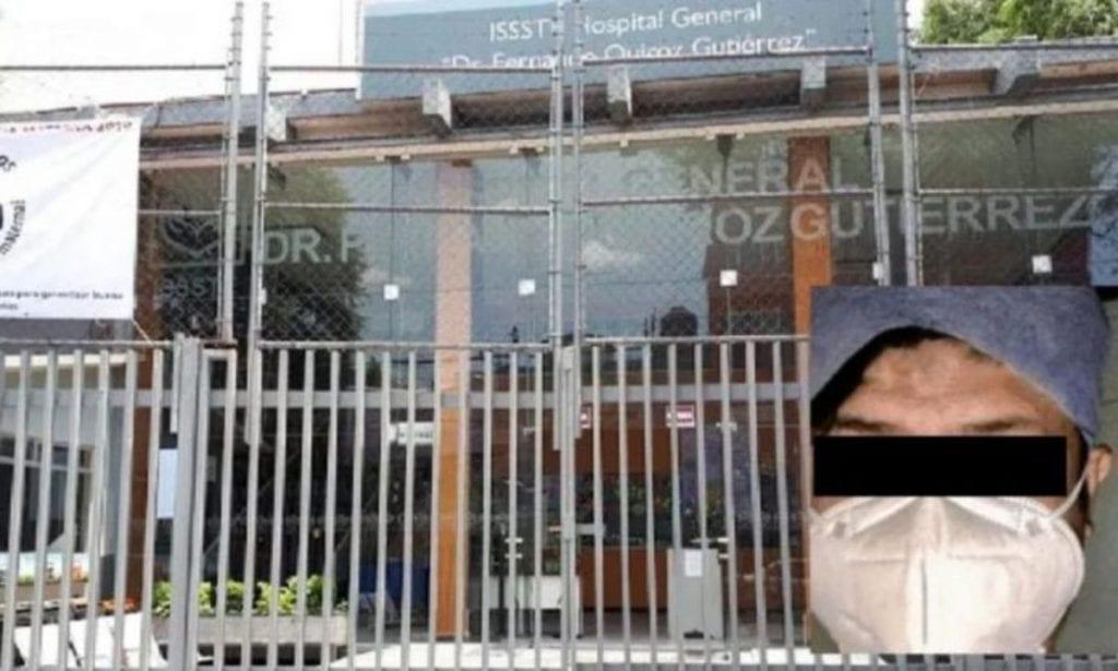 """Mario Alberto """"N"""", un intendente del Hospital General Fernando Quiroz Gutiérrez, del Instituto del de Seguridad y Servicios Sociales de los Trabajadores del Estado (ISSSTE), habría violado a una anciana que se encontraba hospitalizada en el centro clínico, intubada por complicaciones derivadas del covid-19."""