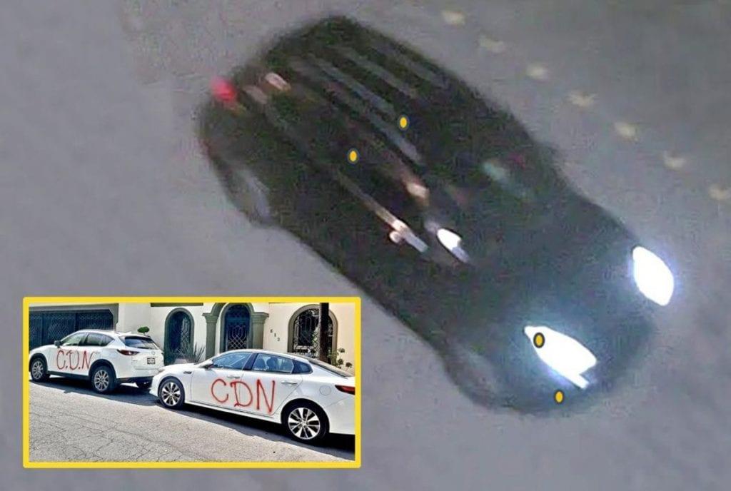 Los delincuentes en San Pedro no se desplazan en cualquier vehículo: al vandalizar el pasado sábado con pintas de un presunto cártel viajaron en una Porsche Cayenne, camioneta de alta gama.