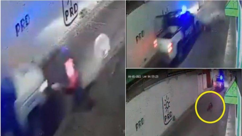 Video policías atropellan a un abuelo y escapan a toda velocidad