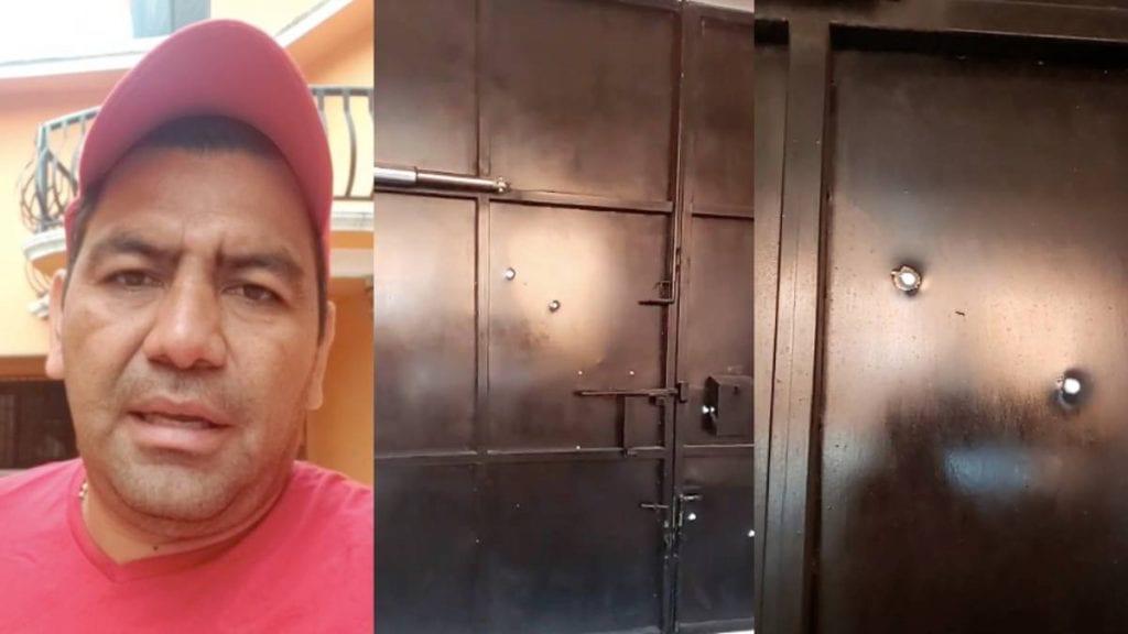 sujetos armados balearon la casa de Antonio Domínguez Aragón, candidato a diputado federal del Partido Revolucionario Institucional (PRI) en Morelos; acto que el político calificó como un atentado