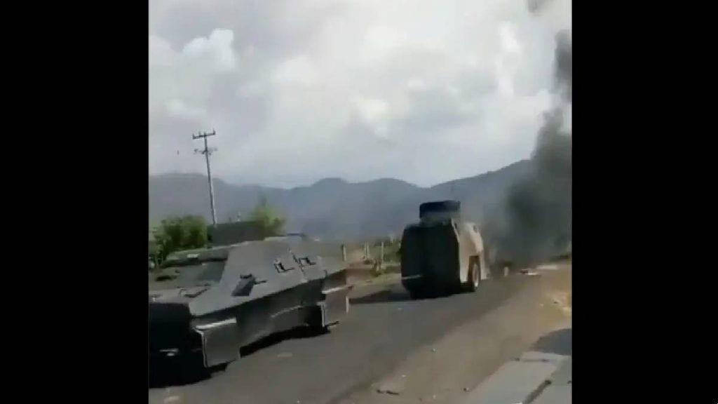 Video al CJNG le incendian un monstruo y le matan a sus sicarios
