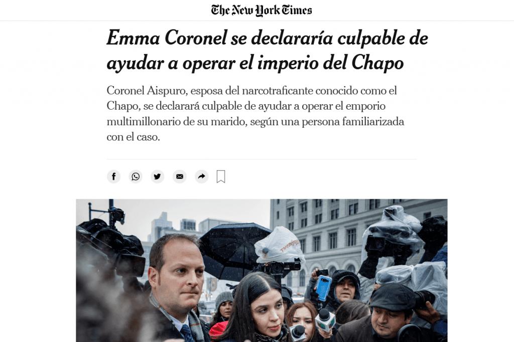 Emma Coronel confesará ser culpable de administrar el patrimonio del 'Chapo': The New York Times_01
