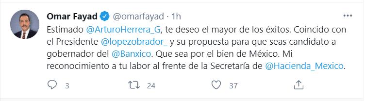 Fayad apoya el nombramiento de Arturo Herrera en Banxico_01