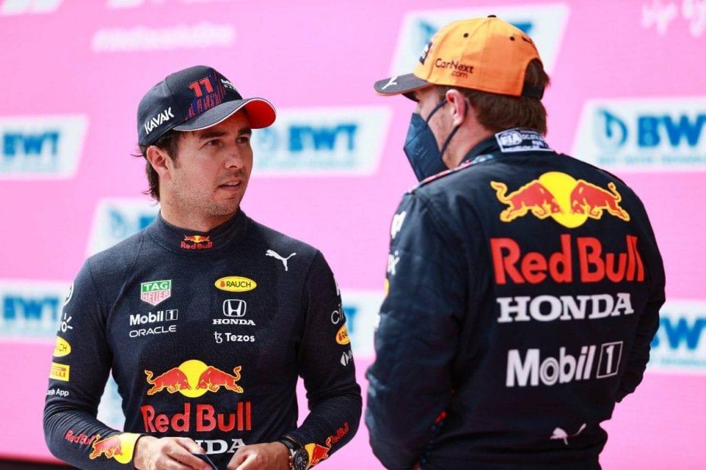"""El mexicanoSergio """"Checo"""" Pérez (Red Bull), tercero en el Mundial de Fórmula Uno, que saldrá tercero este domingo en el Gran Premio de Austria, el noveno del campeonato, declaró en el Red Bull Ring de Spielberg, que está """"contento"""". Además, en su Twitter oficial asegurótener opciones para pelear por el primer lugar"""